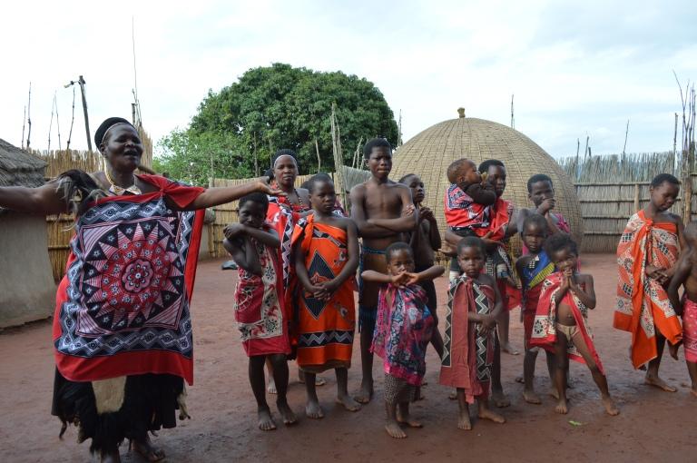 Chief explains weaving costumes amongst swati women.