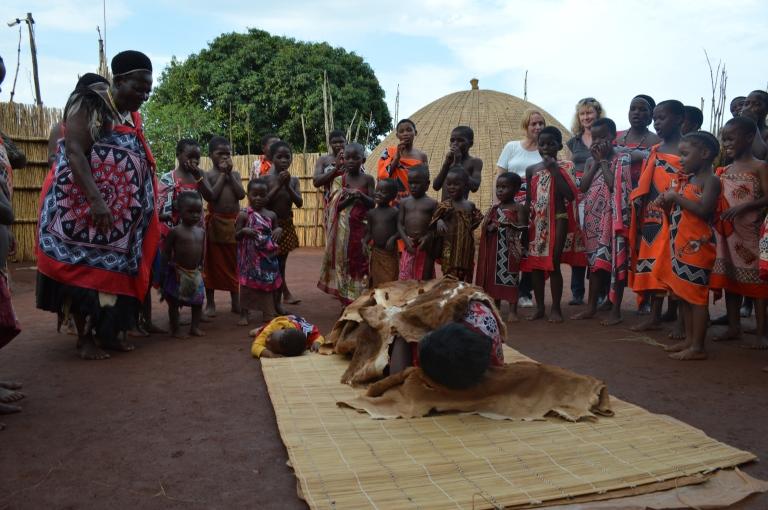 Swati villagers demonstrate the varied uses of animal skin