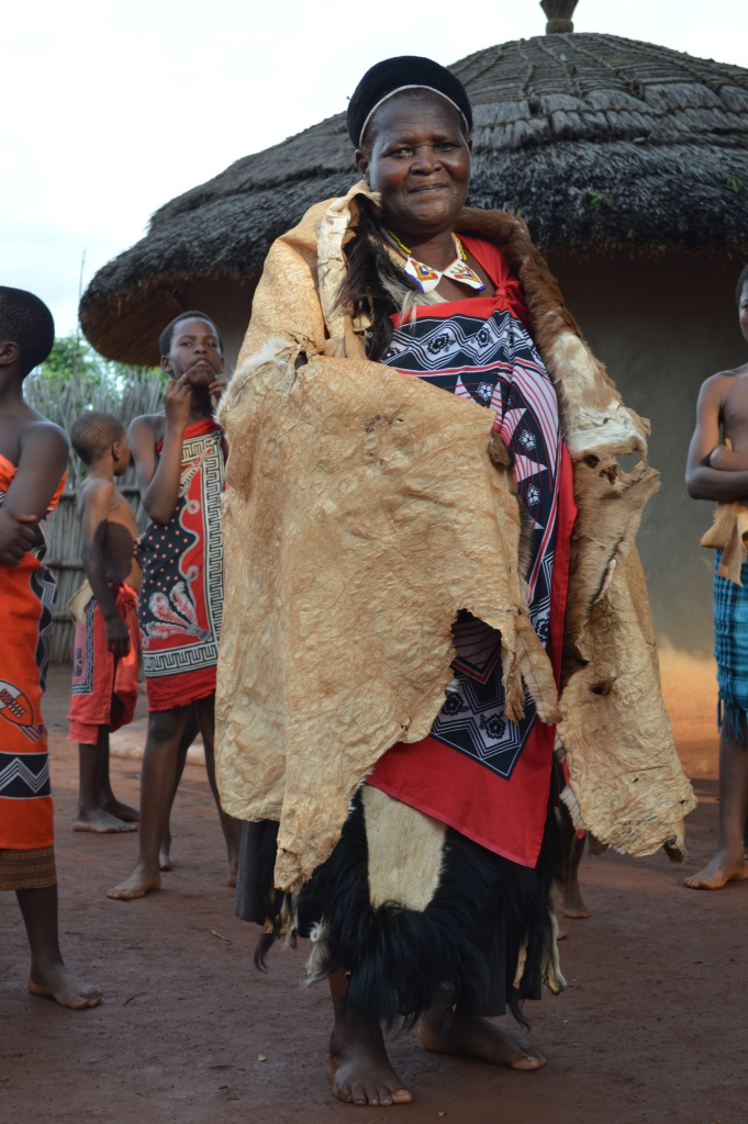 Swati villagers demonstrate the varied uses of animal skin