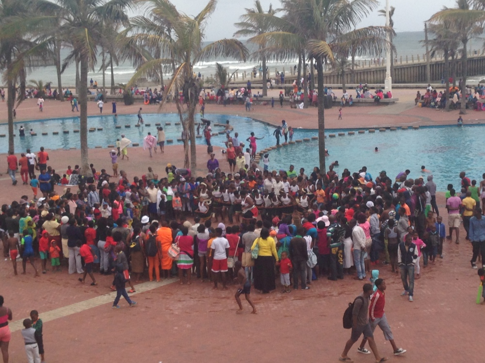 Beach Party in Durban along the Golden Mile Beach 2015
